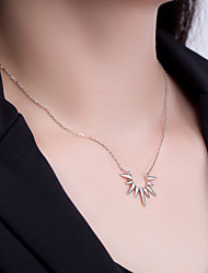 cheap -Pendant Necklace Women's Geometrical S925 Sterling Silver Dainty Wedding Silver Gold 21-50 cm Necklace Jewelry 1pc for Wedding Geometric