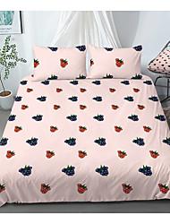 cheap -Print Home Bedding Duvet Cover Sets Soft Microfiber For Kids Teens Adults Bedroom Fruit 1 Duvet Cover + 1/2 Pillowcase Shams