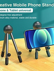 cheap -Phone Holder Stand Mount Bed Desk Adjustable Stand Phone Holder Phone Desk Stand Adjustable Aluminum Alloy Phone Accessory iPhone 12 11 Pro Xs Xs Max Xr X 8 Samsung Glaxy S21 S20 Note20