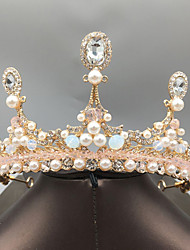 cheap -Bride Headdress Baroque Wedding Dress Crown Female Simple Atmosphere Princess Crown Female 18th Birthday Super Fairy