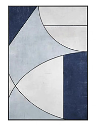 cheap -Oil Painting Handmade Hand Painted Wall Art Modern Blue Geometry Abstract Picture Home Decoration Decor Rolled Canvas No Frame Unstretched