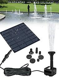 cheap -Solar Panel Powered Water Fountain Pool Pond Garden Water Sprinkler Sprayer with Water Pump Spray Heads