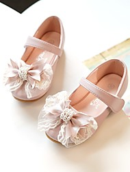cheap -Girls' Flats Flower Girl Shoes Microfiber Wedding Casual / Daily Dress Shoes Toddler(9m-4ys) Little Kids(4-7ys) Wedding Party Party & Evening Bowknot Pearl Pink Ivory Fall Spring