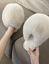 cheap -new style cotton slippers ladies autumn and winter plush fluffy fluffy ball warm slippers women comfortable home home indoor