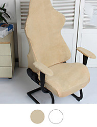 cheap -Split Gaming Chair Slipcover Stretch Warm Stretch Lamb Wool Chair Cover Computer Office Chair Cover Armchair Game Chair Cover