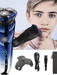 cheap -VGR Electric Shaver Face Shaver 3D Electric Razor for Men Washable USB Rechargeable Shaving Beard Machine Shaver V-305