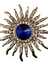 cheap -Men's Women's AAA Cubic Zirconia Brooches Flower Shape Fashion Classic Brooch Jewelry Gold For Daily Festival