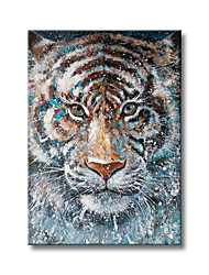 cheap -Oil Painting Handmade Hand Painted Wall Art Abstract Animal Tiger Home Decoration Decor Rolled Canvas No Frame Unstretched