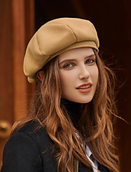 cheap -Elegant Retro Polyester / Cotton Blend / Wool Felt Hats with Solid 1pc Casual / Tea Party Headpiece