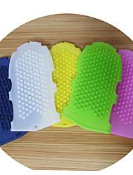 cheap -Glove-style silicone Massage Brush Meridian brush Whole body beauty SPA Essential oil brush Bathing and bathing brush