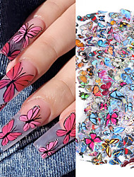 cheap -20 Pcs Nail Transfer Paper Butterfly Series Starry Sky Sticker 10-color Set Magazine Distressed Decoration