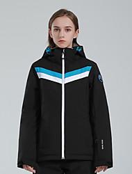 cheap -GSOU SNOW Women's Ski Jacket Thermal Warm Waterproof Windproof Breathable Hooded Winter Winter Jacket for Snowboarding Ski Mountain