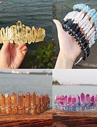 cheap -1 Piece Natural Crystal Rainbow Crown Headband Bridal Headdress Party Headband Tail Comb Style
