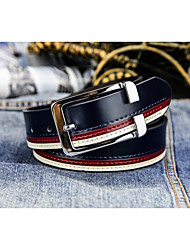 cheap -Men's Waist Belt Daily Black White Belt Solid Color