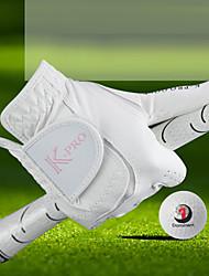 cheap -Golf Glove Golf Full Finger Gloves Women's Anti-Slip UV Sun Protection Breathable PU(Polyurethane) PU Outdoor White / Sweat wicking