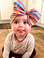 cheap -1pcs Kids Girls' Active / Sweet Daily Wear Striped Bow Hair Accessories Red