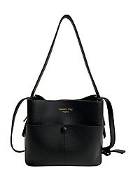 cheap -Women's Bags PU Leather Crossbody Bag Zipper Crocodile Daily Date Handbags Baguette Bag Khaki Black Brown