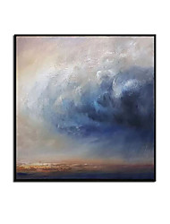 cheap -Oil Painting Handmade Hand Painted Wall Art Modern Abstract Blue Landscape Picture Home Decoration Decor Rolled Canvas No Frame Unstretched