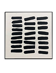 cheap -Oil Painting Handmade Hand Painted Wall Art Modern Simple Black Color Block Abstract Home Decoration Decor Stretched Frame Ready to Hang