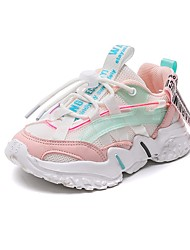 cheap -Boys' Girls' Trainers Athletic Shoes Sports & Outdoors Dress Shoes PU Portable Casual / Daily Sports Sporty Look Big Kids(7years +) Sports & Outdoor Hiking Shoes Walking Shoes Pink Silver White Fall
