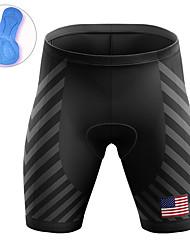cheap -21Grams Men's Cycling Shorts Summer Bike Padded Shorts / Chamois Quick Dry Moisture Wicking Sports Stripes American / USA National Flag Black Mountain Bike MTB Road Bike Cycling Clothing Apparel Bike