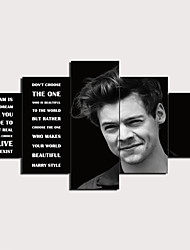 cheap -5 Panels Wall Art Canvas Prints Painting Artwork Picture Harry Styles Quotes Painting Home Decoration Decor Rolled Canvas No Frame Unframed Unstretched
