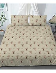 cheap -Print Home Bedding Duvet Cover Sets Soft Microfiber For Kids Teens Adults Bedroom Botanical/Plants 1 Duvet Cover 1/2 Pillowcase Shams 1 Flat Sheet