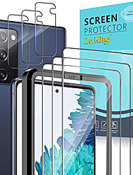 cheap -Phone Screen Protector For SAMSUNG S21 S21 Plus S21 Ultra S20 S20 Plus Tempered Glass 3 pcs High Definition (HD) Ultra Thin Scratch Proof Front Screen Protector Phone Accessory