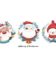 cheap -Christmas / Cartoon Wall Stickers Living Room / Kids Room & kindergarten, Removable / Pre-pasted PVC Home Decoration Wall Decal 1pc