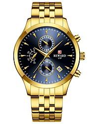 cheap -REWARD Mens Watches Luxury Quartz Watch Casual fashion Steel Strap Men Chronograph Waterproof Moon phase Wrist Watch RD81008