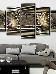 cheap -5 Panels Wall Art Canvas Prints Painting Artwork Picture Abstract Home Decoration Decor Rolled Canvas No Frame Unframed Unstretched