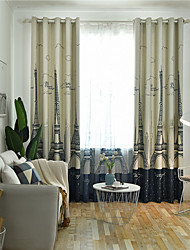 cheap -Window Curtain Window Treatments Navy Blue 1 Panel Room Darkening Grommet Rod Pocket Solid For Living Room Bed Room