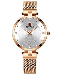cheap -REWARD Women Watches New Modern Dial Stainless Steel Strap Quartz Watch Waterproof Ladies Stainless Steel Casual Wristwatch