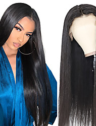 cheap -13x4 Lace Bone Straight Lace Front Human Hair Wigs for Black Women  Transparent HD Lace Frontal Wig Brazilian Hair Closure Wig