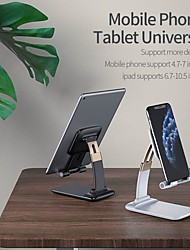 cheap -Phone Holder Stand Mount Desk Foldable Adjustable Stand Phone Holder Adjustable Polycarbonate ABS Phone Accessory iPhone 12 11 Pro Xs Xs Max Xr X 8 Samsung Glaxy S21 S20 Note20