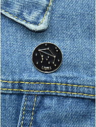 cheap -Men's Women's Brooches Geometrical Star Simple European Brooch Jewelry Black For Halloween Prom Festival