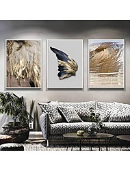 cheap -Wall Art Canvas Prints Painting Artwork Picture Abstract Feather Home Decoration Decor Rolled Canvas No Frame Unframed Unstretched