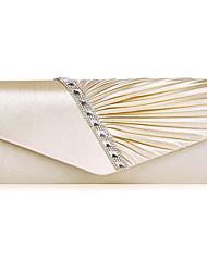 cheap -Women's Bags Satin Evening Bag Buttons Plain Party / Evening Date Evening Bag Purple Almond Silver Gold