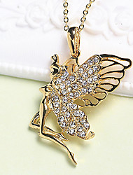 cheap -Pendant Necklace Charm Necklace Women's Geometrical Zircon Gold Plated Butterfly Fashion Lovely Wedding Gold 45 cm Necklace Jewelry 1pc for Christmas Wedding Street Gift Daily Geometric
