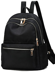 cheap -Women's Oxford Cloth Commuter Backpack Adjustable Large Capacity Zipper Solid Color Daily Outdoor Black