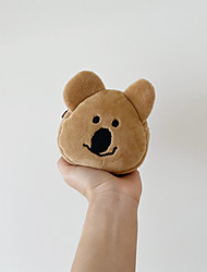 cheap -Unisex Bags Polyester Plush Bear Coin Purse Zipper Character Daily Office & Career 2021 Brown
