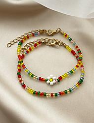 cheap -Women's Bead Bracelet Beads Flower Stylish Colorful European Sweet Boho Plastics Bracelet Jewelry Rainbow For Party Wedding Street Daily Carnival / Resin