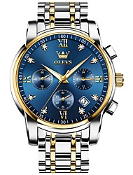 cheap -OLEVS 2021Top Brand Luxury Mens Watches Quartz Stainless SteelSports Chronograph Watch Men Relogio Masculino Gifts for Men 2858