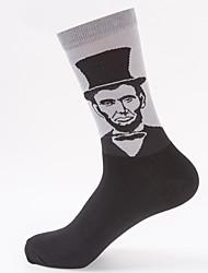 cheap -Comfort Sport Men's Socks Solid Colored Socks Medium Casual Blue 1 Pair