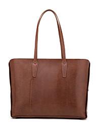 cheap -Women's Bags PU Leather Top Handle Bag Zipper Date Office & Career Handbags Dark Brown Black Brown