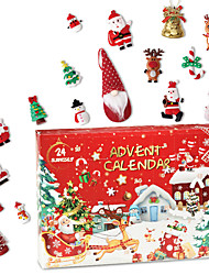 cheap -Christmas Decorations Creative Countdown Christmas Blind Box Toy Pendant Christmas Gifts