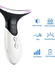 cheap -Reduce Double Chin Neck Face Lifting Beauty Device Heating Rejuvenation Ions Massager LED Photon Tighten Skin Anti Wrinkles