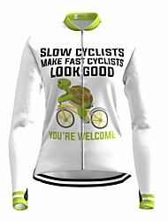 cheap -21Grams Women's Long Sleeve Cycling Jersey Spandex White Bike Top Mountain Bike MTB Road Bike Cycling Quick Dry Moisture Wicking Sports Clothing Apparel / Stretchy / Athleisure