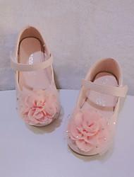 cheap -Girls' Flats Flower Girl Shoes Princess Shoes Microfiber Little Kids(4-7ys) Pink Ivory Fall Spring