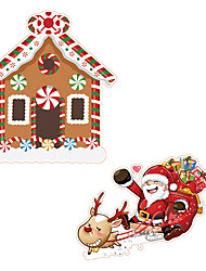 cheap -Christmas Cartoon Wall Stickers Living Room Toilet Removable Pre-pasted PVC Home Decoration Wall Decal 1pc